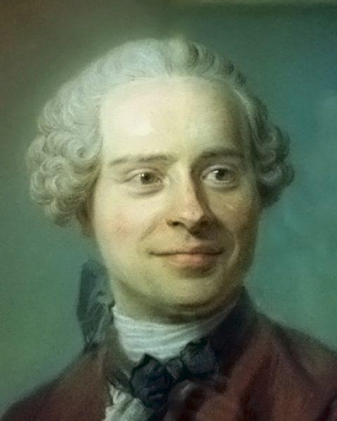 Jean d'Alembert portant une sorte de nœud papillon en 1753